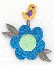 Flower Bird Applique embroidery design