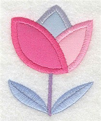 Tulip Applique embroidery design