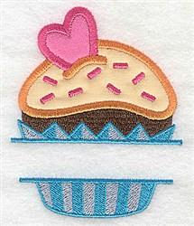 Cupcake Split Frame embroidery design