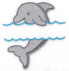 Dolphin Frame embroidery design