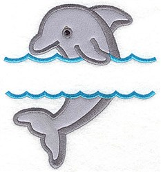 Dolphin Applique embroidery design