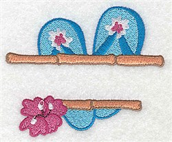 Flip-Flop Frame embroidery design