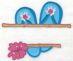 Flip-Flops Applique embroidery design