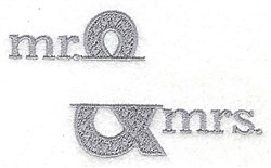 Mr. & Mrs. Split Frame embroidery design
