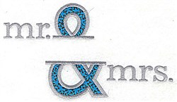Mr and Mrs Applique embroidery design