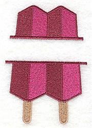 Popsicle Split Frame embroidery design