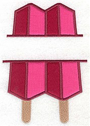 Popsicle Applique Frame embroidery design