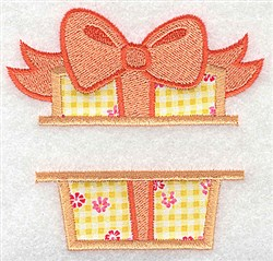 Gift Frame Applique embroidery design