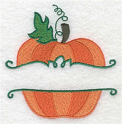 Pumpkin Frame embroidery design