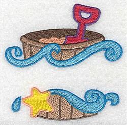 Beach Pail &Shovel embroidery design