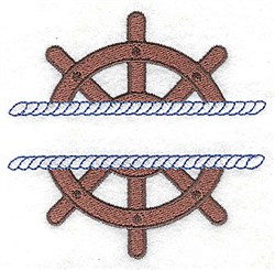 Ships Wheel Frame embroidery design
