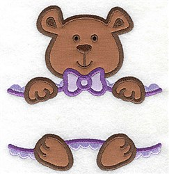 Teddy bear Double Applique embroidery design