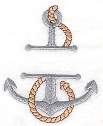 Anchor Frame embroidery design
