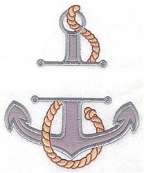 Anchor Frame Applique embroidery design