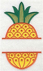 Pineapple Frame Applique embroidery design