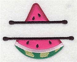 Watermelon Applique Frame embroidery design