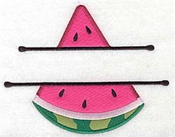 Watermelon Double Applique embroidery design