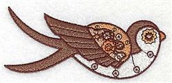 Steampunk Bird embroidery design