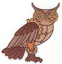 Steampunk Owl embroidery design