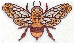 Steampunk Fly embroidery design