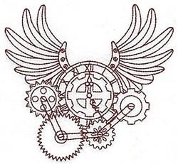 Steampunk Clock embroidery design