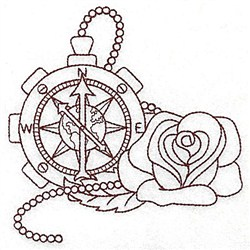 Steampunk Compass embroidery design