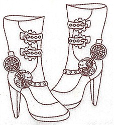 Steampunk Boots embroidery design