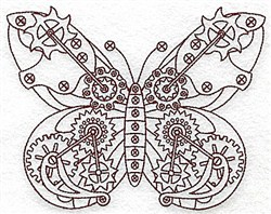 Steampunk Butterfly embroidery design