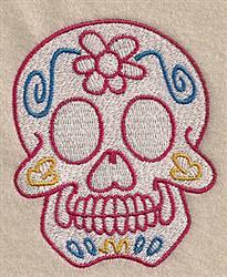 Floral Skull embroidery design