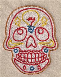 Light Bulb Skull embroidery design