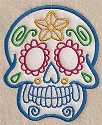 Skull Applique embroidery design