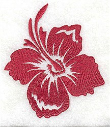 Hibiscus Bloom embroidery design