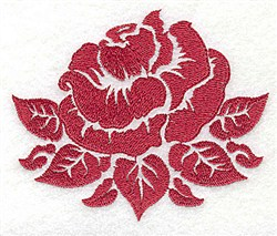 Rose Stencil embroidery design