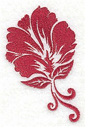 Stencil Leaf embroidery design