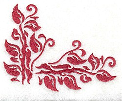 Leafy Corner embroidery design