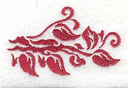 Leafy Edge embroidery design