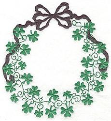 Shamrock Wreath embroidery design
