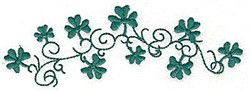 Shamrock Swirls embroidery design