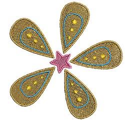 Flower & Star embroidery design