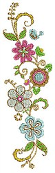 Flower Border embroidery design