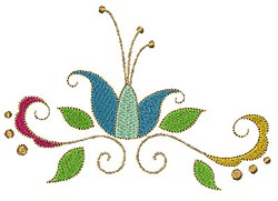 Swirly Flower embroidery design