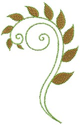 Swirly Leaves embroidery design