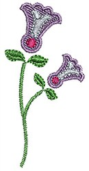Purple Flowers embroidery design