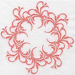 Round Swirl embroidery design