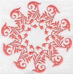 Swirly Circle embroidery design