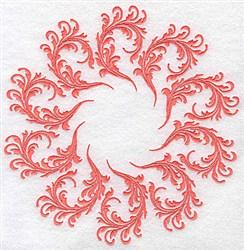 Romantic Swirl Circle embroidery design