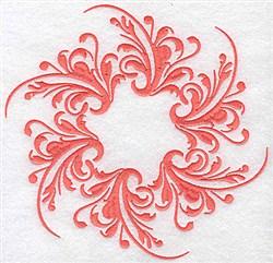 Swirly Circle embroidery design