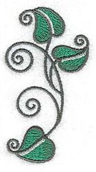 Peapod Leaves embroidery design