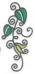 Leaves and Swirls embroidery design