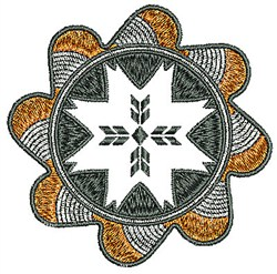 Southwestern Style Flower embroidery design